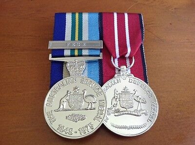 Australian Service Medal 1945-75 FESR clasp and Defence Medal, Full Size