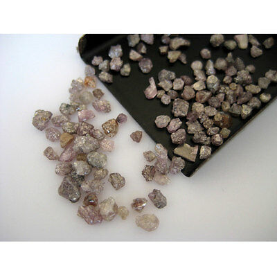 Beautiful Pink Natural Rough Diamond Raw 15 Pcs 1Carat 2mm-3.5mm PU98