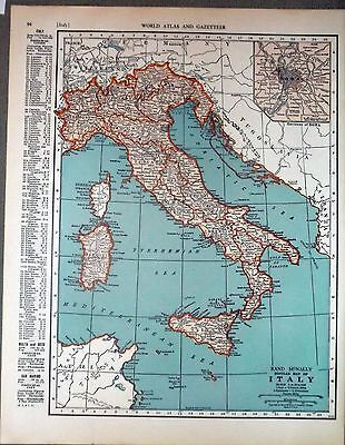 1943 vintage ORIGINAL map of SWITZERLAND and ITALY WW2 ERA WWII Atlas