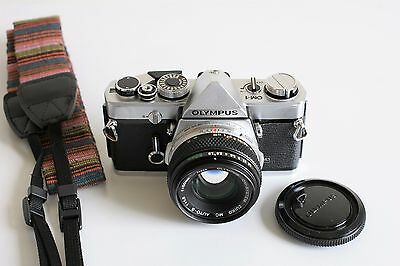 Olympus OM-1 SLR Film Camera with 50mm f/1.8 Lens