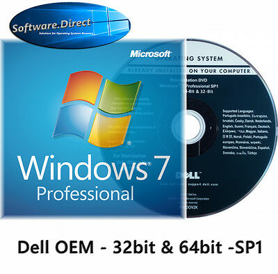 Windows 7 Professional 32 BIT Full Version OEM DVD and Product Key