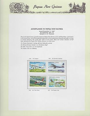 1987 PNG PAPUA NEW GUINEA Aeroplanes STAMP SET K-484