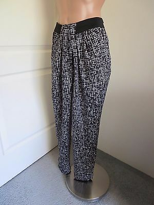 Country Road Black Geometric Easy  Pants  Size 6