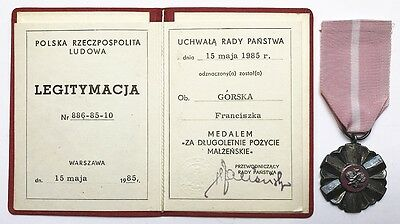 2688 POLAND POLISH MEDAL FOR LONG STANDING MARRIED LIFE III PRL-type +DOC'85