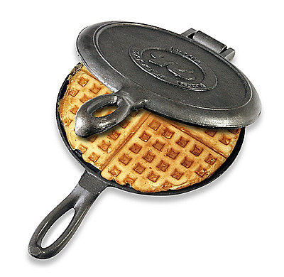 Rome Industries® Old Fashioned Cast Iron Waffle Iron, Vintage, Kitchen, Stove