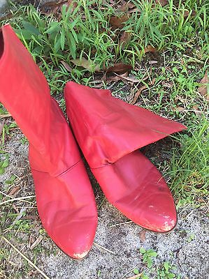 Vintage Boots Red Size 7