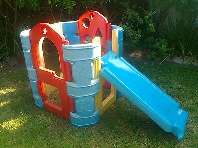Outdoor Play Cubby House Slippery Dip Mascot