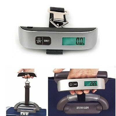 Pocket Digital Scale 50kg Portable Travel Luggage Scale Electronic Weigher US