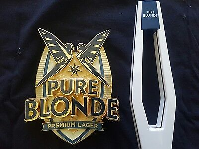 Pure Blonde Beer Tap Badge and Handle
