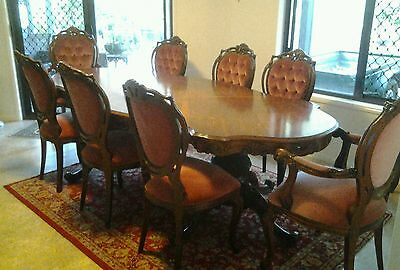 Vintage ornate table and chairs
