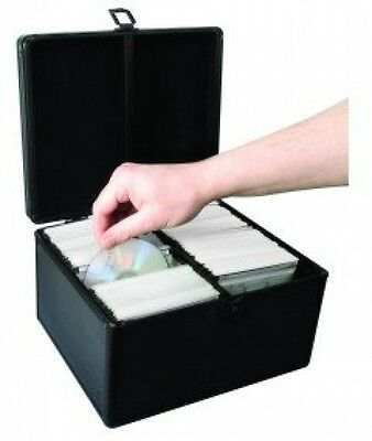 300 CD DVD Storage Case Double Sided Disc Holder Storage Carry Box New With Lock