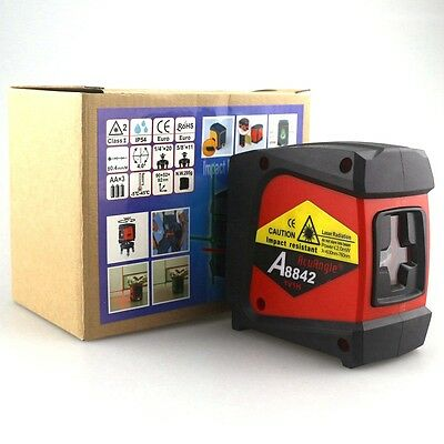 ACUANGLE A8842 Laser Level and Detector 635nm 360 Self-leveling Rotary