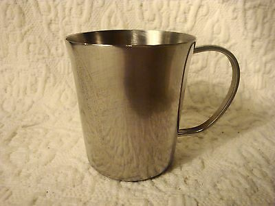 "Vintage WMF Cromargan  Brazil Stainless Steel Child's Baby Cup 2-1/2"" Tall"