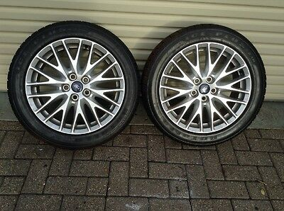 Ford Alloy Wheels Fitted With Winter Tyres
