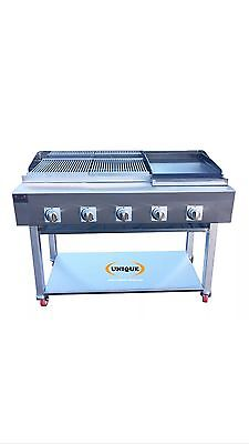 5 Burner Gas Charcoal Chargrill Heavy Duty for Commercial Use