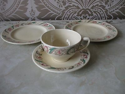 """Susie Cooper Endon Pattern Cup & Saucer & 2 Tea plates 8"""""""