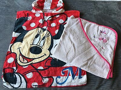 Girls Hooded Towels Minnie Mouse