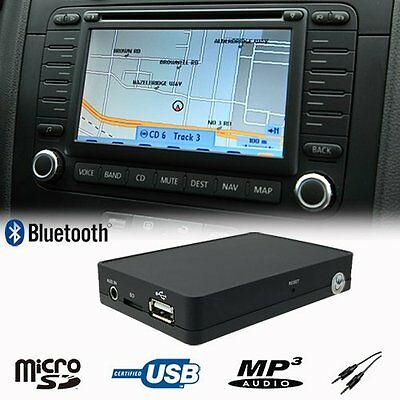 Bluetooth USB SD AUX CD Changer Adapter VW Volkswagen Jetta EOS RCD MFD2 12 Pin