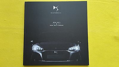 Citroen DS3 Cabrio Chic Elegance Prestige official paper brochure 2016 MINT DS 3