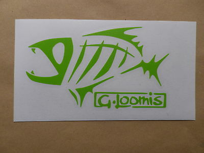 G.LOOMIS FISHING Vinyl Stickers Decals LIGHT GREEN