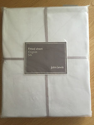 Brand New John Lewis 100% Silk Fitted Sheet Size Kingsize Colour Ivory
