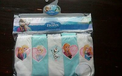 Disney Frozen Mothercare girls underwear 7-8 BNWT
