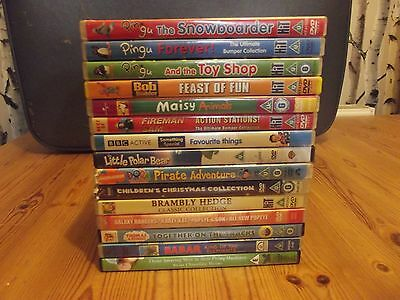 Lot of 15 Children's dvds, All titles Listed