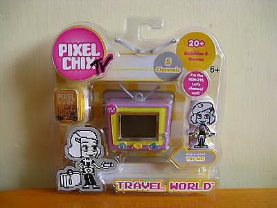 Pixel Chix TV Travel World Interactive Electronic Game