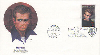 James Dean First Day Cover - 1996 USA - STARDOM