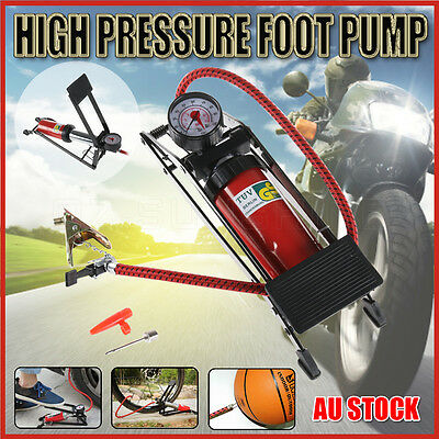 2017 High Pressure Foot Pump Bicycle Ball Motorbike Car Type Tire Air Pump OZ