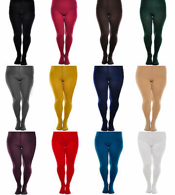 Plus Size Women Opaque Microfiber Tights  60 Denier Aurellie Multipacks