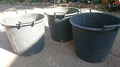 Black Tree Planter Tubs - Extra Large  With Handles