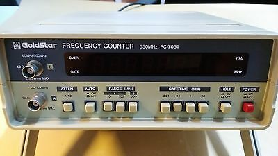 GOLDSTAR  FC-7051   500 MHz  Frequency COUNTER