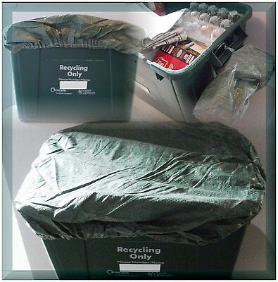 BRAND NEW PACK 3 x Green Recycle Box Covers  ** - Recycling Bin Lid