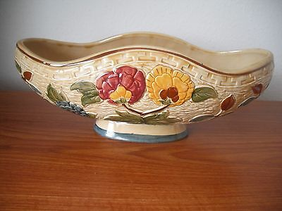 """H.J.Wood """"Indian Tree"""" Handpainted 1950's Large Planter"""