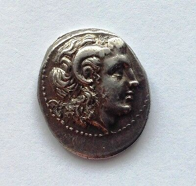 Ancient Greek Silver Drachm,KINGS of THRACE, Macedonian. Lysimachos. 305-281 BC.