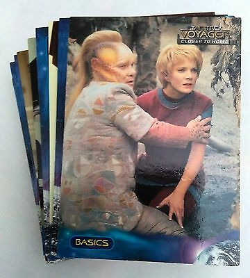 Complete Set Star Trek Voyager Profiles Skybox - 90 Trading Cards Neuf Mint
