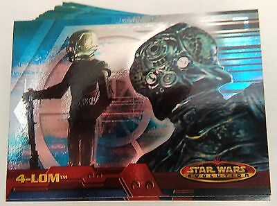 Complete Set Star Wars Evolution Topps 2001 - 90+3 Trading Cards Neuf Mint