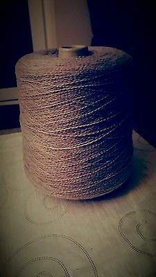 623g CONE 50%/50% WOOL/ACR. SUBTLE LILAC FINE GIMP 4PLY FOR HAND/MACHINE KNITS.