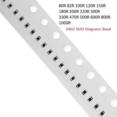 0402 SMD SMT Magnetic Bead 80,82,100,120,150,180,200,220,300,330-1000R Ω Ohm Kit