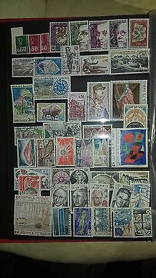 lot de timbres France oblitérés 1974