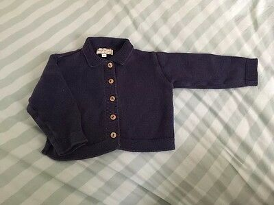 Navy Cardigan- Size 12 Months - D'Arcy Brown