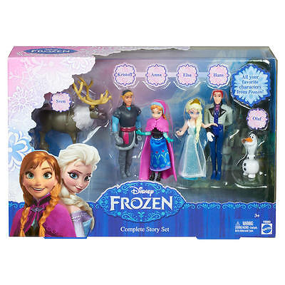 coffret figurines reine des neiges disney set complete story frozen