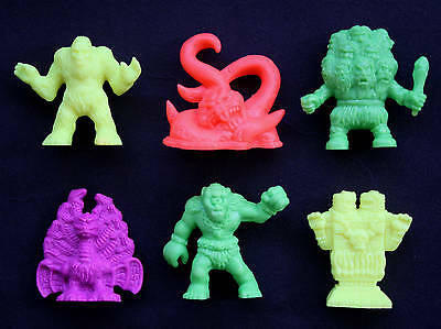 MIMP / M.I.M.P. / monster in my pocket / lot of 6 neon figures / some rare