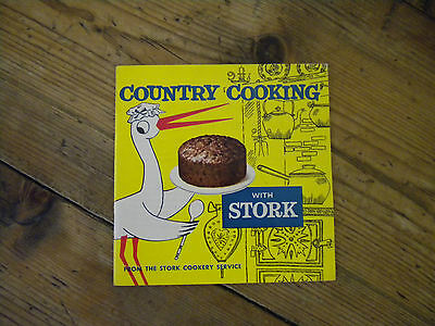 COUNTRY COOKING WITH STORK- 1950,s VINTAGE BOOKLET