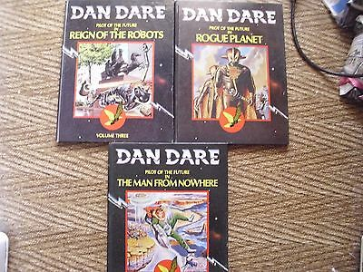 Dan Dare x 3 books Reign of the robots,man from nowhere,rouge planet.