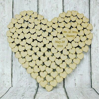 Wedding Heart Guest Book, Heart of hearts, one piece, personalised MDF