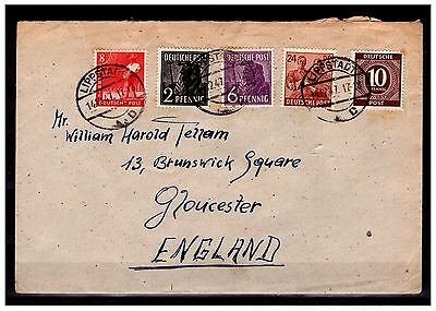 Germany To England Cover. LIPPSTADT. 1947. Used. #505