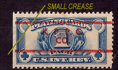 US Revenue Playing Cards Stamp 1940. Used. #981