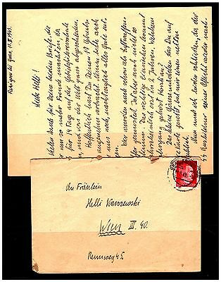 Germany Cover To Wien, With Letter Enclosed. 1945. Used. #945